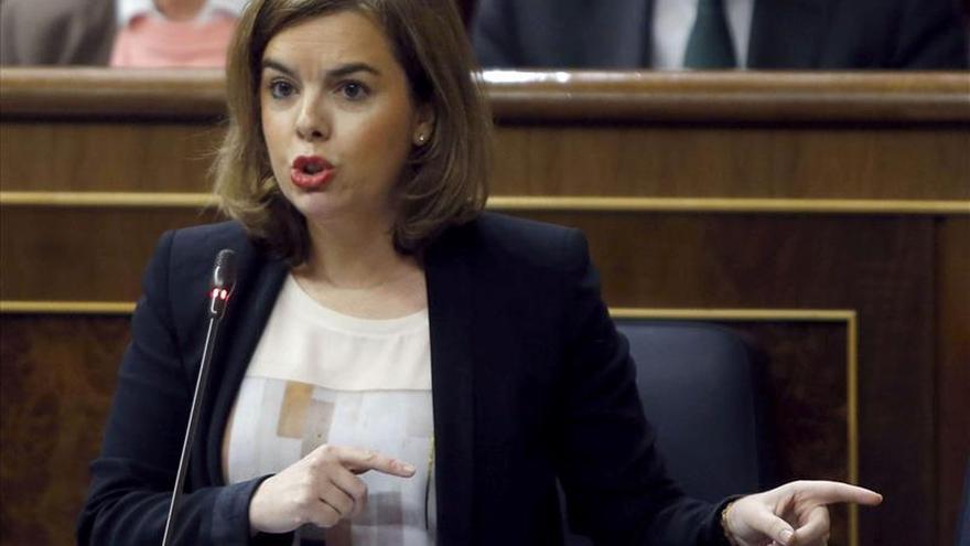 """Sáenz de Santamaría señala que """"en la UE se puede decir que las políticas del PP funcionan"""""""
