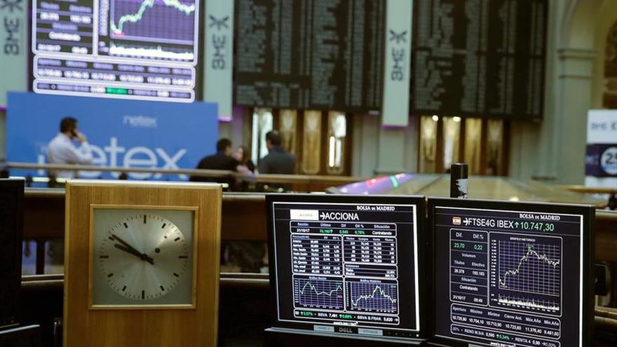 La Bolsa española abre con un repunte del 0,66 % y suma 10.591 puntos