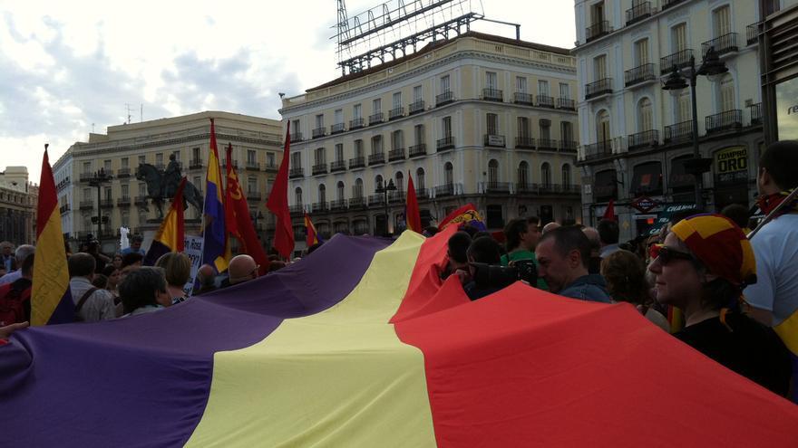 Manifestación por la III República en Madrid el 14 de abril de 2014. \ S.P