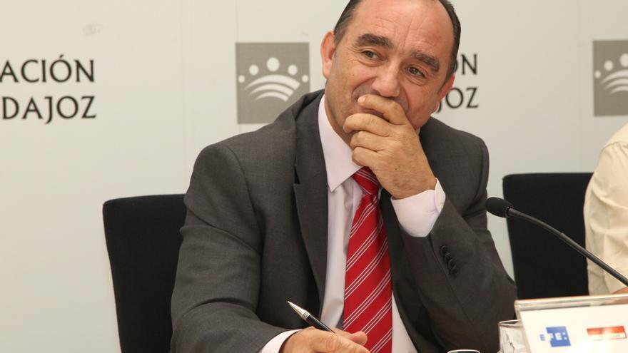 Valentín Cortés, presidente de la Diputación de Badajoz