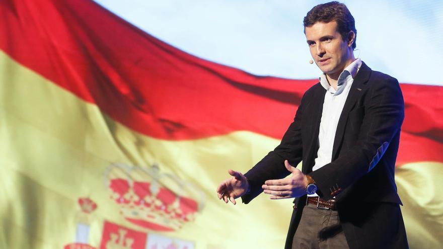 El presidente del Partido Popular, Pablo Casado, este fin de semana.