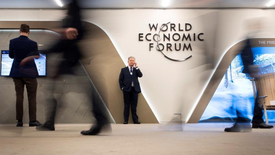 Asistentes al foro de Davos.