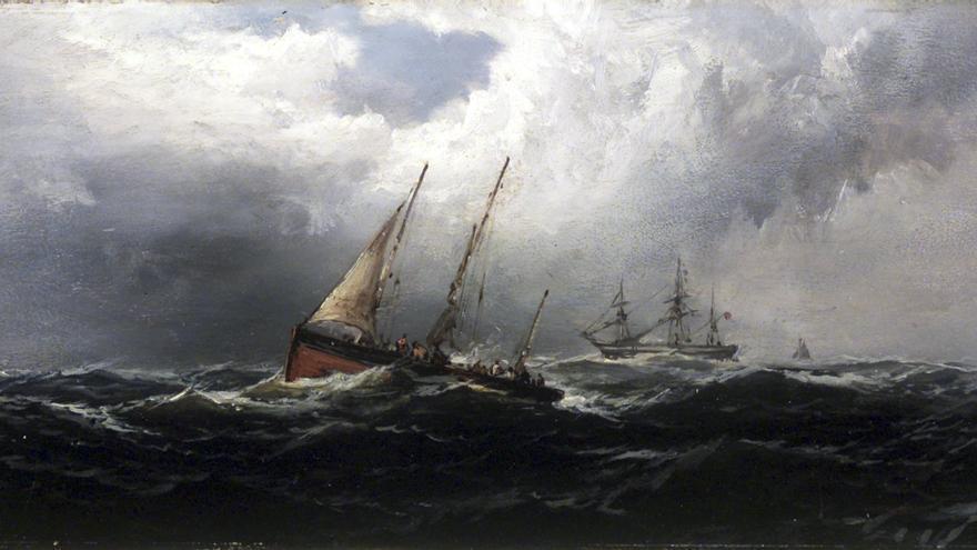 James Hamilton. Náufragos (1875).
