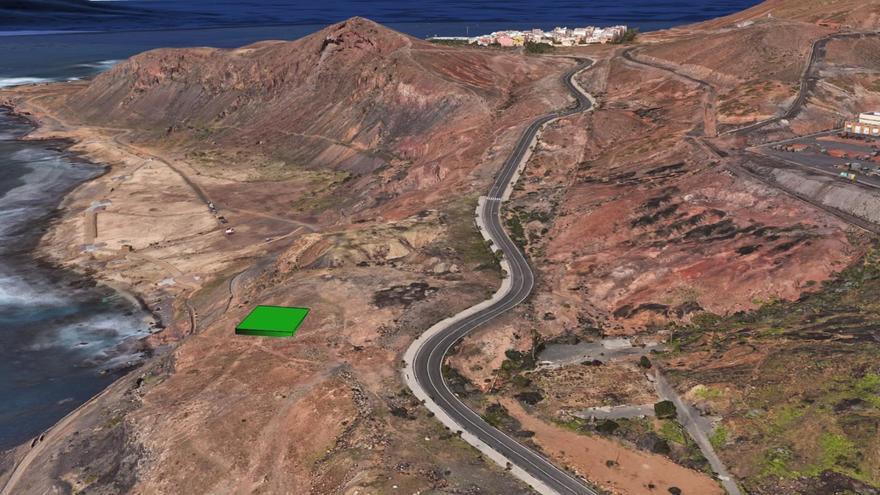 Lugar en el que estará el futuro mirador de La Isleta