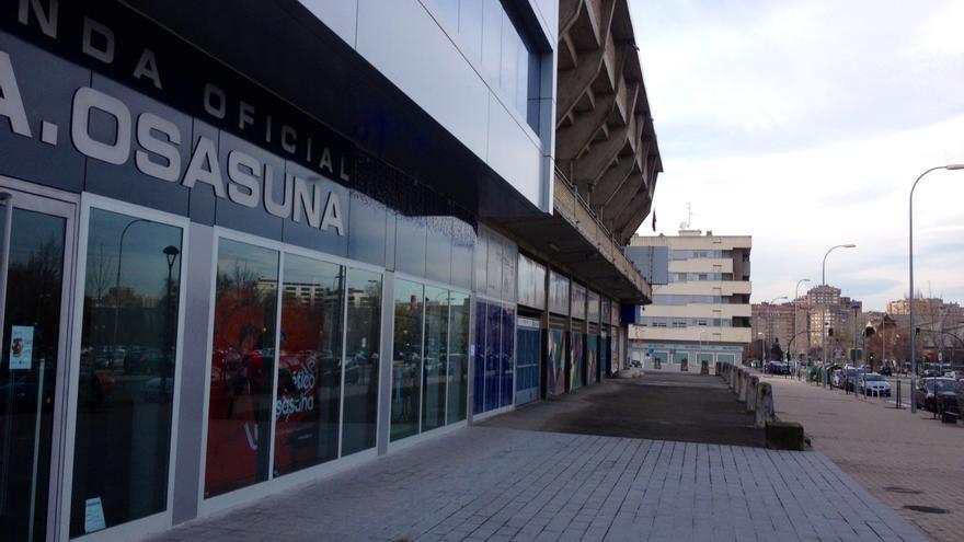 El estadio de El Sadar, en Pamplona.