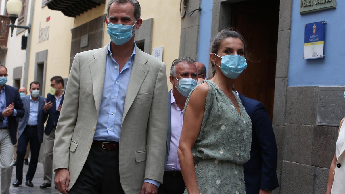 Felipe VI y doña Letizia, en su visita a Gran Canaria