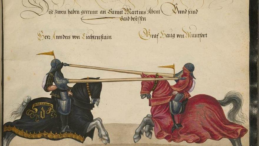 Pero Niño destacó desde su juventud por su habilidad con las armas. Su biógrafo cuenta que era experto en el uso de la espada y la ballesta y que cobró fama venciendo en numerosas justas y torneos.