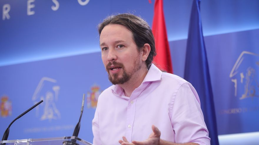 Pablo Iglesias comparece tras su reunión con el rey.