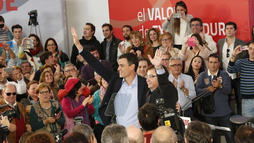 Pedro Sánchez y Vara presentan en Mérida a los candidatos socialistas a las alcaldías de ocho ciudades extremeñas