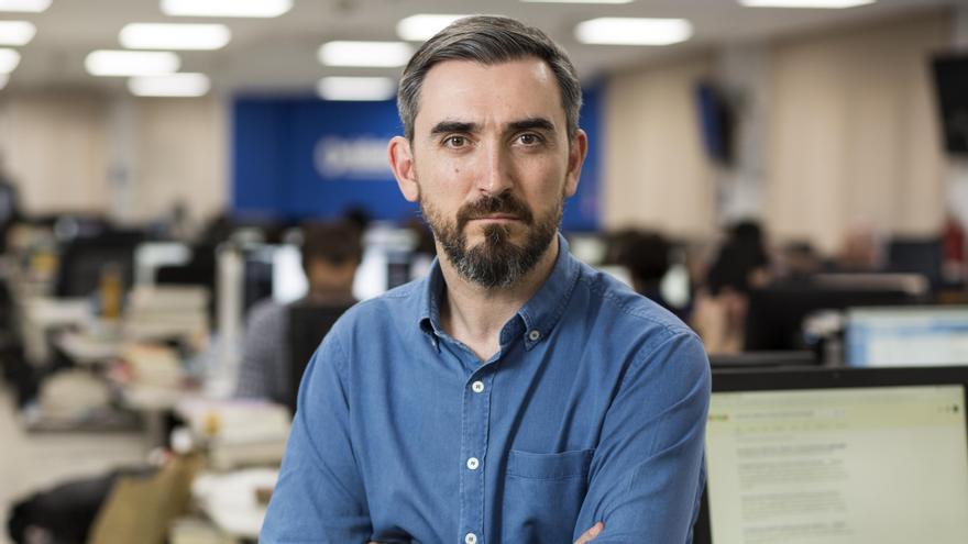 Ignacio Escolar en la redacción de eldiario.es