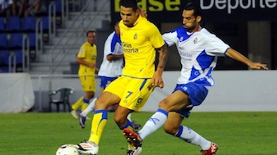 Vitolo en el último partido ante el Tenerife. (udlaspalmas.es)
