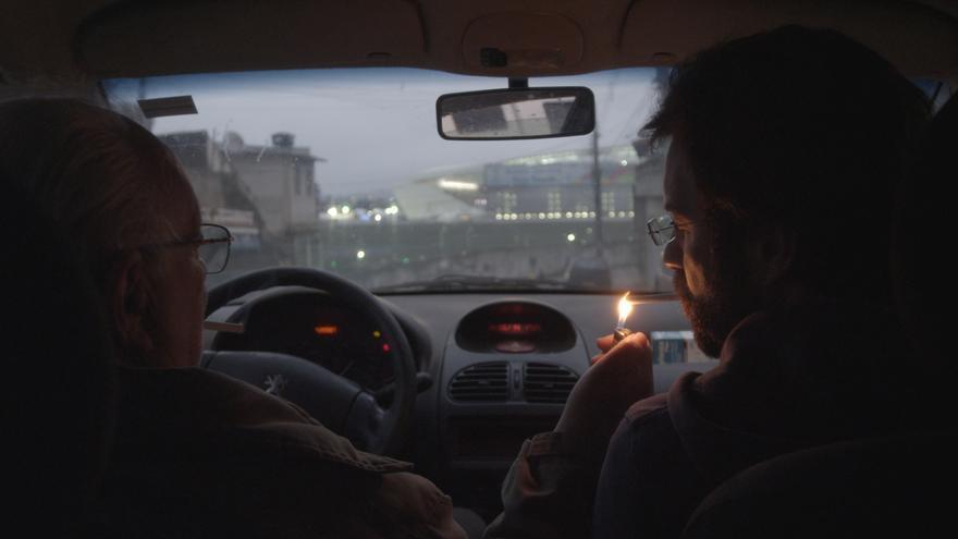 Sergio y Simâo Oskman en el coche