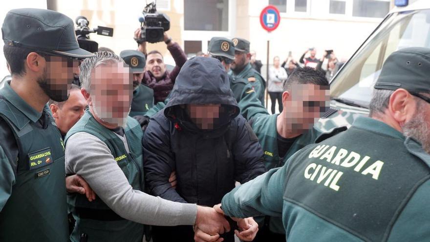 El detenido por la muerte de Marta Calvo, Jorge Ignacio P., a su llegada a los juzgados.