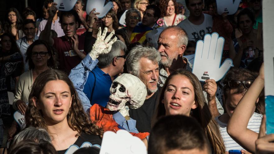Manifestants a la marxa prorefugiats