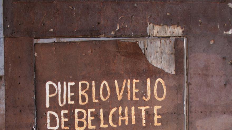 El cartel más famoso de Belchite. Luis Villa del Campo