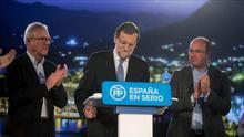 Ramón Luis Valcarcel junto a Mariano Rajoy y Pedro Antonio Sánchez