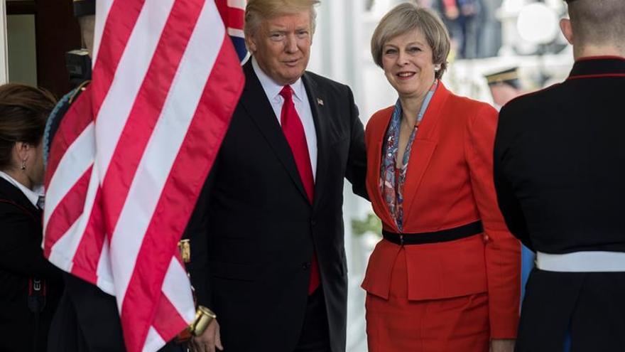 May le pedirá a Trump que proteja la información secreta del Reino Unido