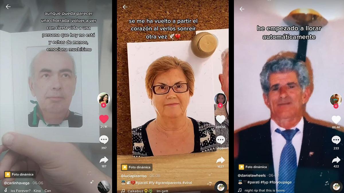 Varios usuarios de Tiktok utilizan un efecto que les permite recordar cómo gesticulaban sus seres queridos que ya no están.