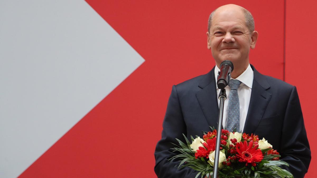 El candidato socialdemócrata a la cancillería alemana, Olaf Scholz.
