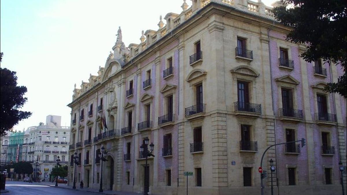 El Palau de Justícia de Valencia, seu del TSJ, actualment objecte de rehabilitació.