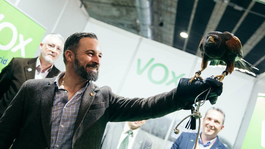 Vox, durante un acto de campaña de este sábado