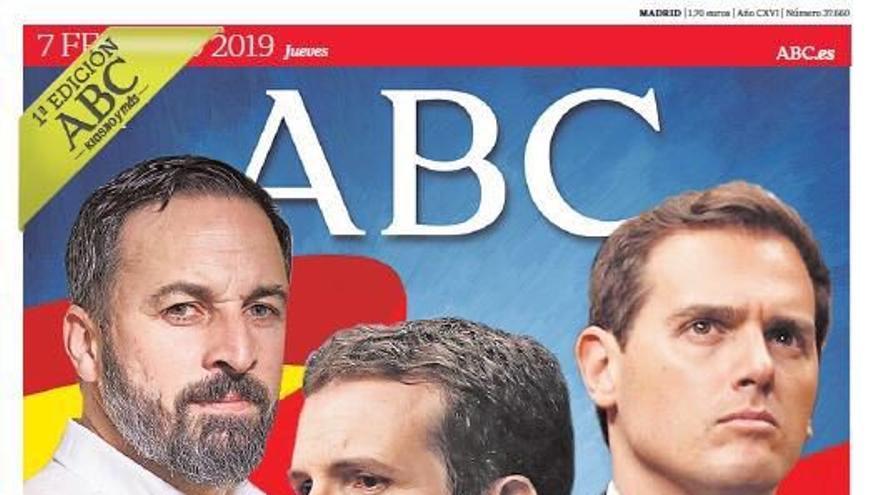 Portada del Abc sobre la movilización convocada por la unidad de España
