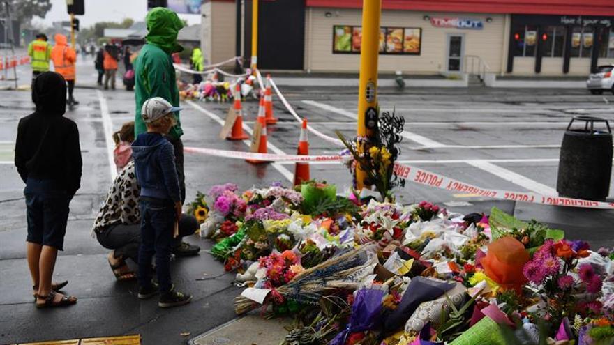 Homenaje a las víctimas del ataque terrorista de Christchurch, Nueva Zelanda.