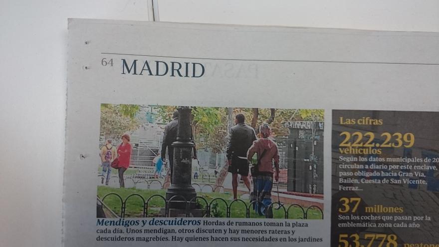 """""""Plaga"""" de hojas en Madrid: """"¡No me he matado de milagro!"""""""