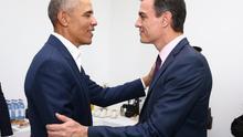 """""""We, progressive leaders"""": Así han sido los 30 minutos de Obama y Pedro Sánchez en Sevilla"""