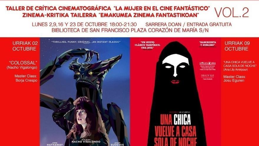 Biblioteca bilbaína de San Francisco acoge en octubre un taller de crítica de cine sobre la mujer en el cine fantástico