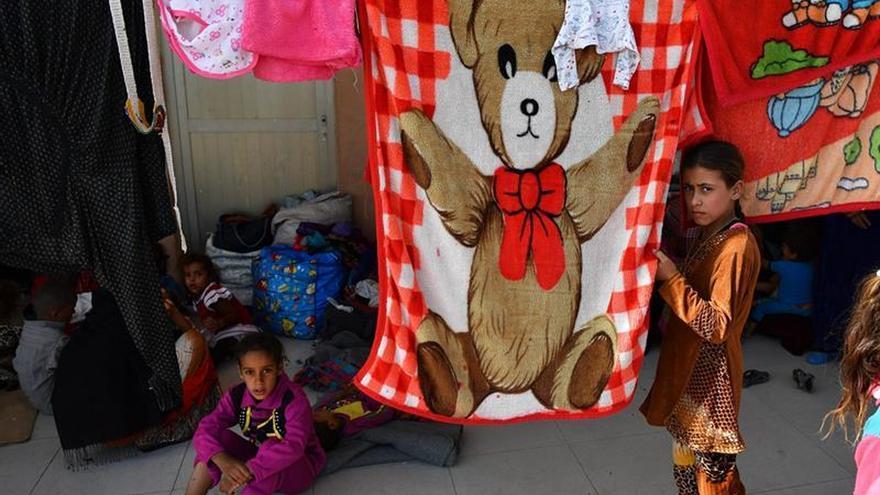 Campo de refugiados Dibaga, en las afueras de Erbil (Irak).