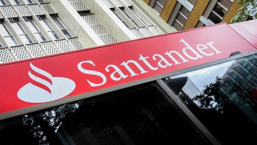 Oficina del Banco Santander, en una imagen de archivo
