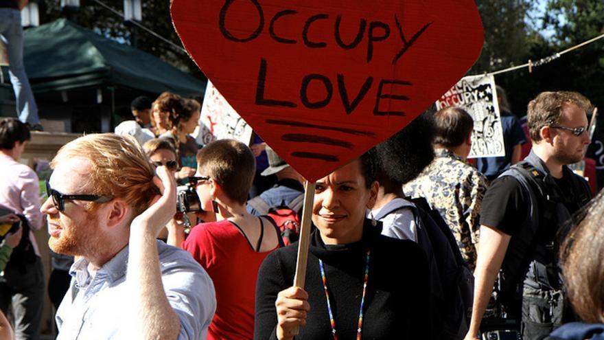 Manifestación de #OccupyOakland en noviembre de 2011. FOTO: Flickr Nathan Jongewaard