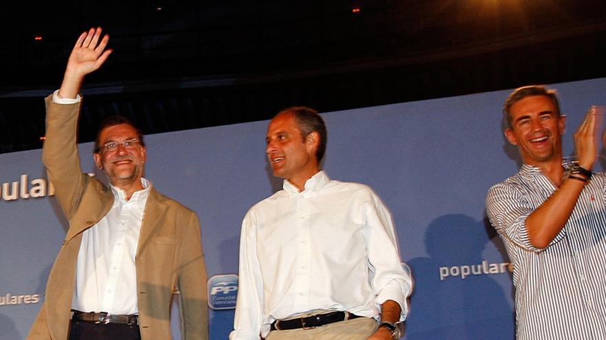 Mariano Rajoy, con Francisco Camps y Ricardo Costa, imputado en Gürtel