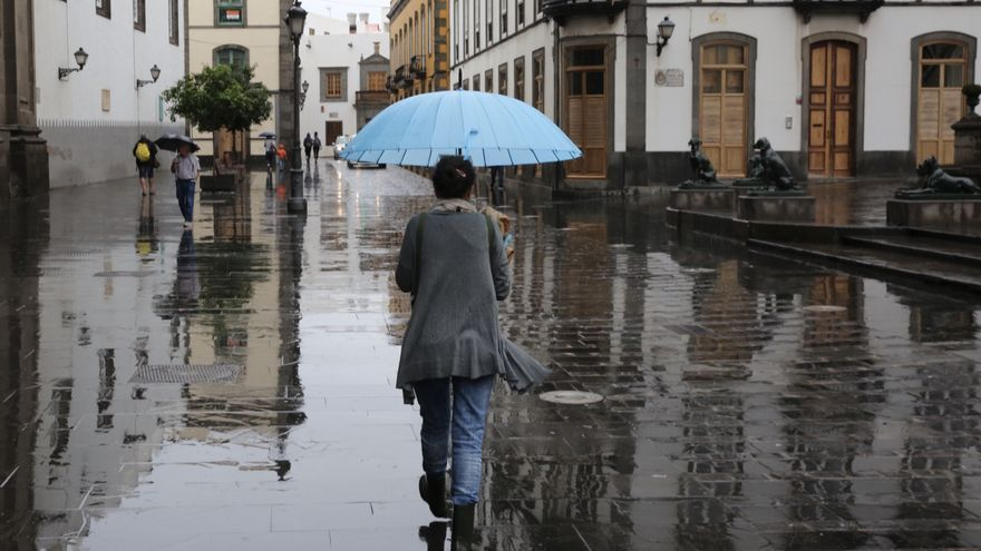 La lluvia, protagonista de este jueves en toda Canarias