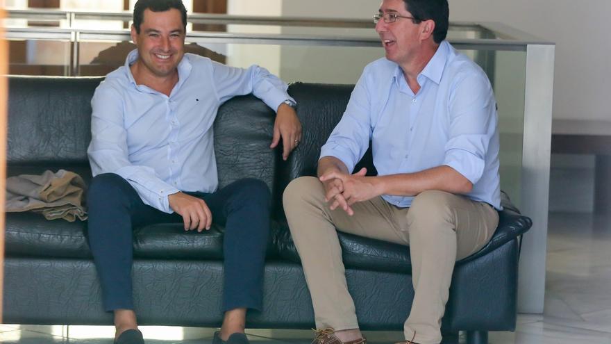 Moreno y Marín acuerdan una reunión entre delegaciones del PP-A y C's para el próximo miércoles