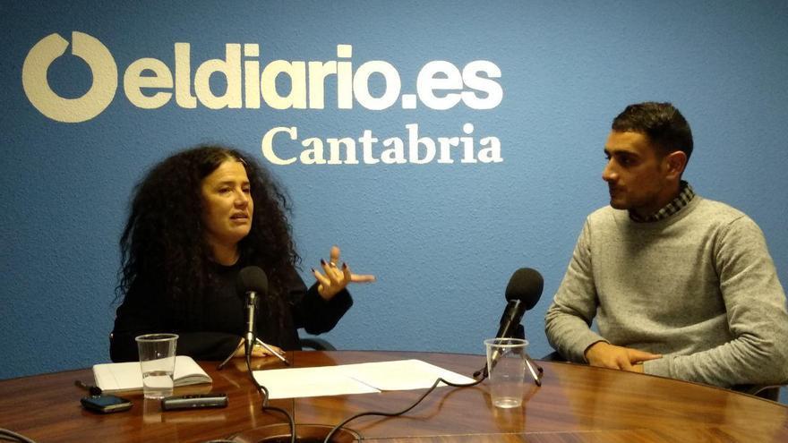 Patricia Manrique y Hourone El Hinani durante la entrevista. | LARO GARCÍA