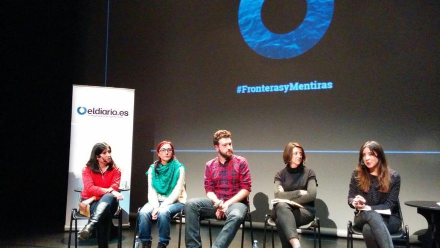 Transcurso del debate organizado por eldiario.es sobre las muertes ocurridas en la frontera de Ceuta /FOTO: Laura Olías