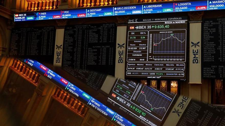 La Bolsa española cotiza con cautela y cae el 0,04 % a la espera de la Fed