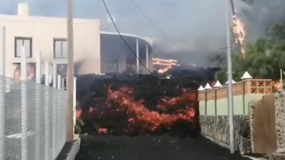 Avance de la lava en La Palma