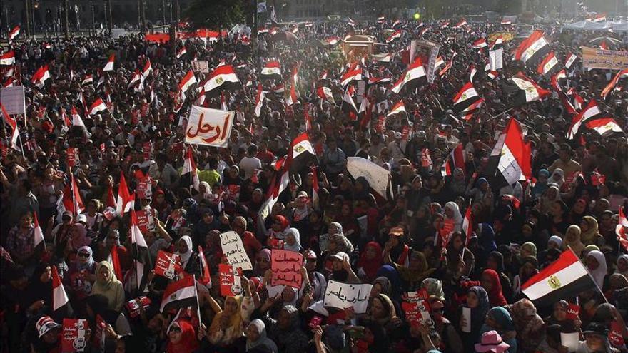 Protestas antigubernamentales en Egipto en 2013.
