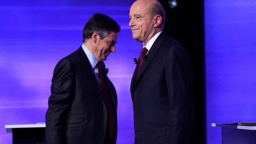Fillon y Juppé, dos concepciones de la derecha se miden cara a cara