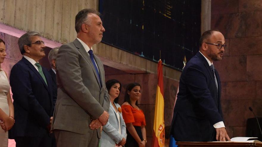 José Antonio Valbuena, tomando posesión de su cargo como consejero de Transición Ecológica