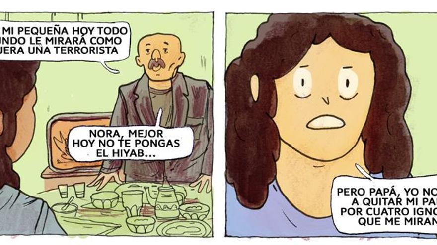 Imagen del cómic Las afueras, de la Fundación Al Fanar