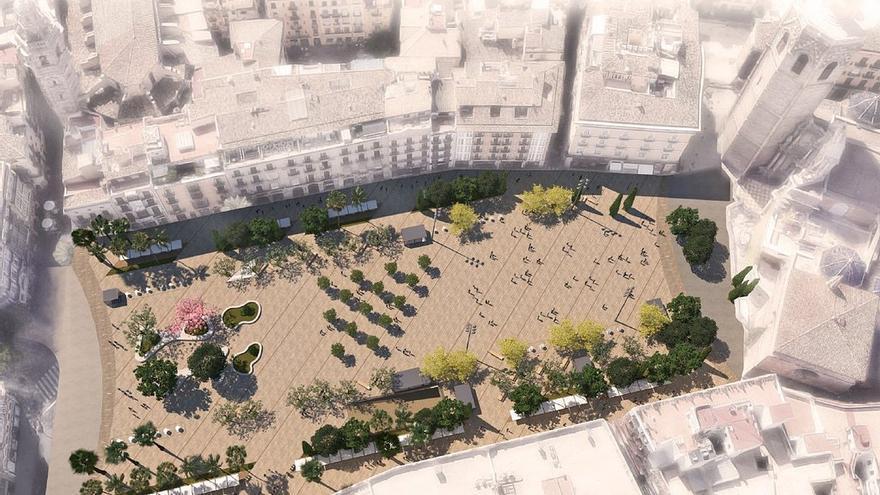 Así quedará la plaza de la Reina tras la remodelación