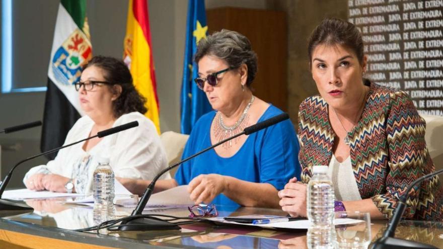 La directora general del IMEX, Elisa Barrientos, con las asociaciones que han colaborado en el plan