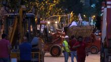 Encuentran el cadáver del segundo obrero sepultado tras el derrumbe del edificio en Madrid