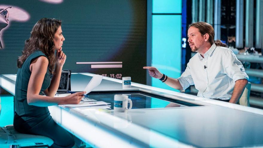 Ana Pastor y Pablo Iglesias en 'El Objetivo'