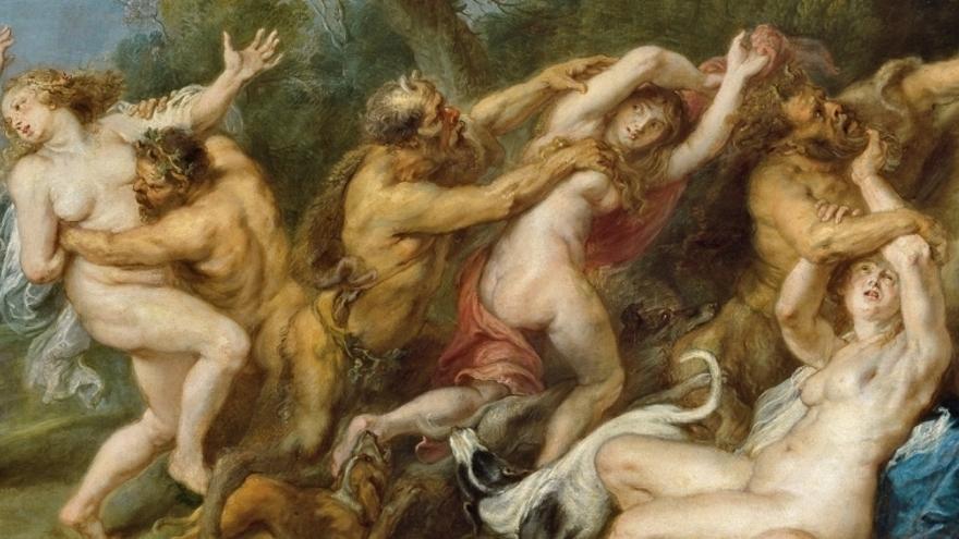 Fragmento de 'Diana y sus ninfas sorprendidas por sátiros', de RUBENS, PEDRO PABLO