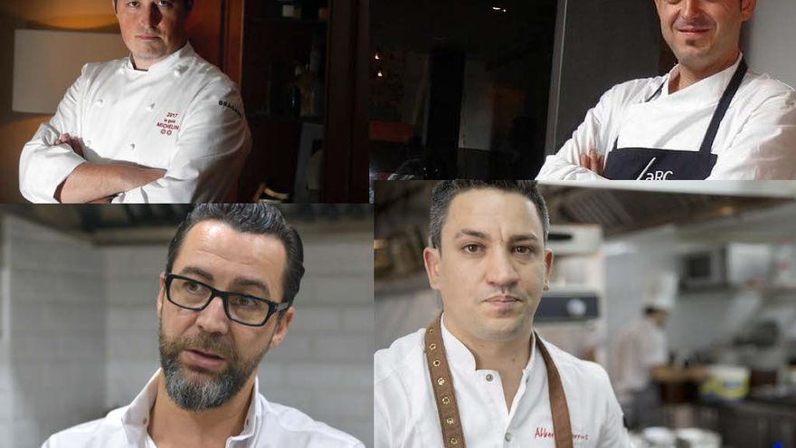 Kiko Moya, Ricard Camarena, Quique Dacosta y Alberto Ferruz